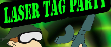 Outdoor LaserTag Birthday Party Invitations for Fort Worth Paintball